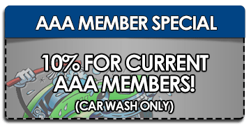 10% Off Car Wash For Current AAA Members