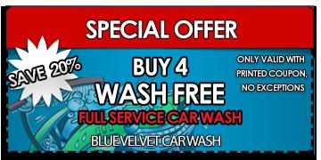 buy 4 get one car wash