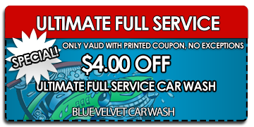 $4 off ultimate car wash